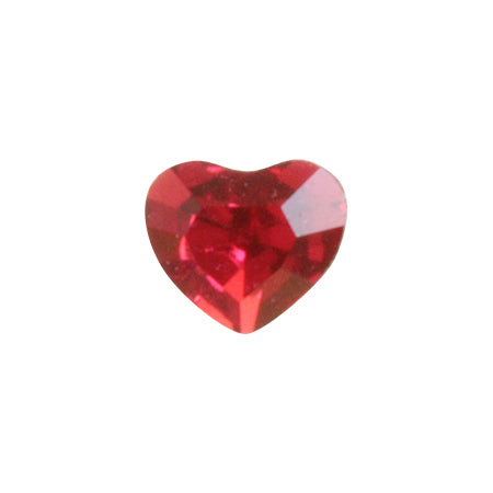 Swarovski Crystal Scarlet  # 4883 Mini Heart  3.6mm x 3.1mm 6P