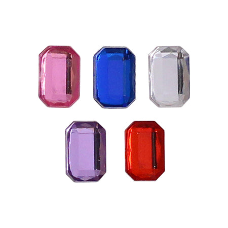 SHAREYDVA Acrylic Jewel Stone MIX 4 × 6mm  Pop Ver. 2 . 25P