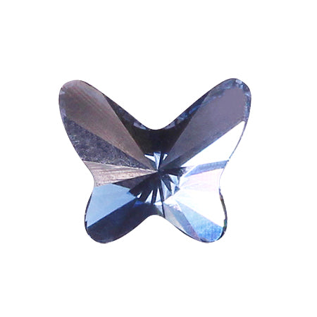 Swarovski Crystal # 2854 Butterfly Denim blue  8mm 3p