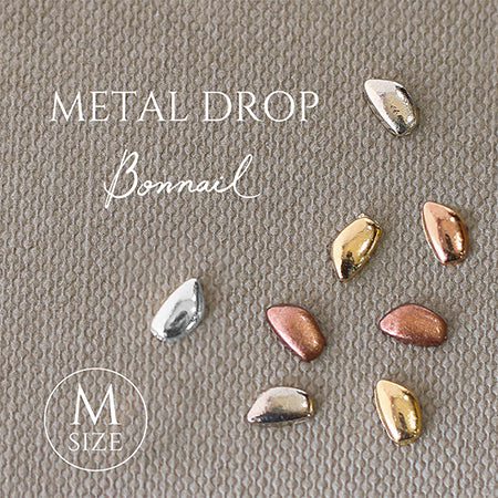 Bonnail Metal Drop  M  Pink gold 10p