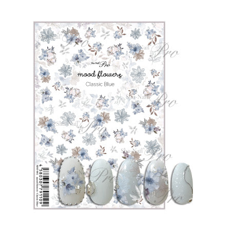 Photo nail PRO  Mood Flowers Classic Blue