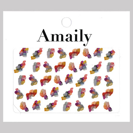Amaily Nail Stickers No. 5-37 Ink Art