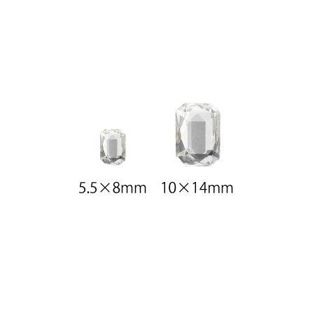 Swarovski Crystal # 2602 Emerald Cut Crystal 8 x 5.5mm 2p 14 x 10mm 1p