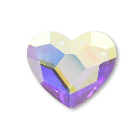 Swarovski Crystal AB #2808 Heart M  6 mm 6 P
