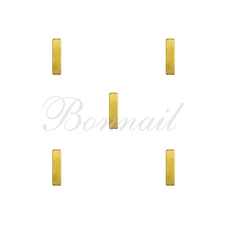 Bonnail Parts Rectangle Stick Gold 8mm