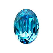 Swarovski Crystal Aquamarine # 4120 Oval type  8 x 6mm 4P