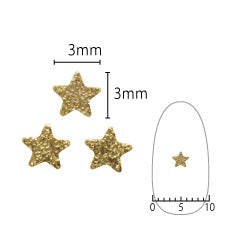 SHAREYDVA Nail Parts Shine Plate Star S Gold
