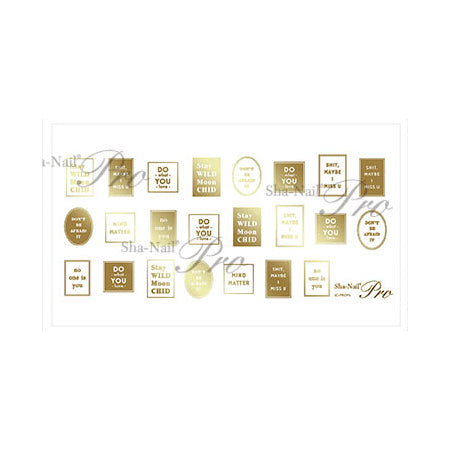 Sha-Nail Plus Label Gold LB-PG