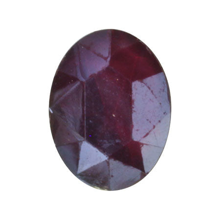 SHAREYDVA Nail Accessory Classic Stone Oval Red