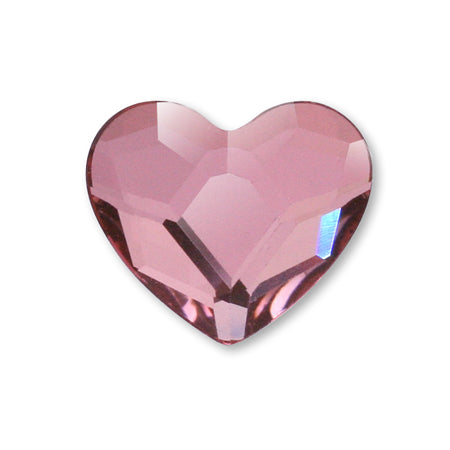 Swarovski Crystal #2808 Antique Pink Heart L 10 mm 4 P