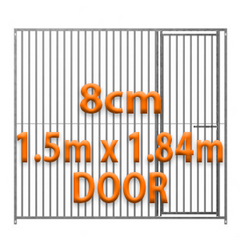 1.5m x 1.84m DOOR - 8cm Gap Panels