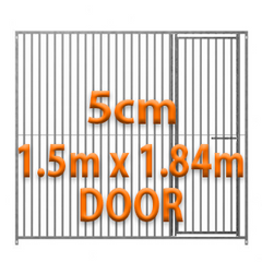 1.5m x 1.84m DOOR - 5cm Gap Panels