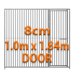 1.0m x 1.84m DOOR - 8cm Gap Panels