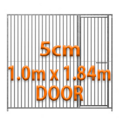 1m x 1.84m DOOR - 5cm Gap Panels