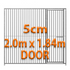 2m x 1.84m DOOR - 5cm Gap Panels