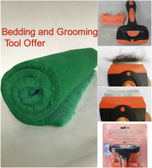 Dog Bed Plus Grooming Tool Offer