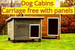 Dog Cabins ordered with dog run panels