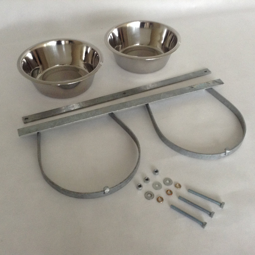 Galvanised bowl holders