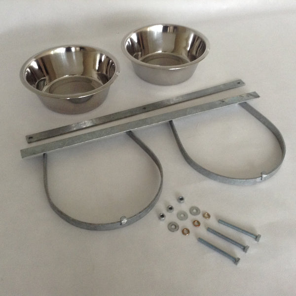 Galvanised bowl holders Inc Bowls