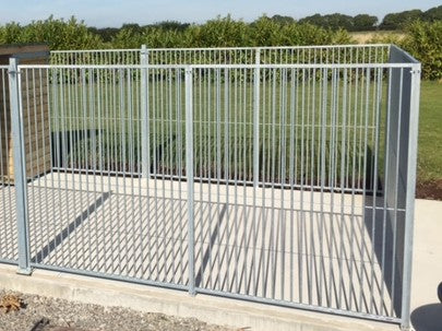 Galvanised dog run posts