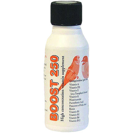 Boost 250 Mulitvitamin for Cage Birds and Pigeons