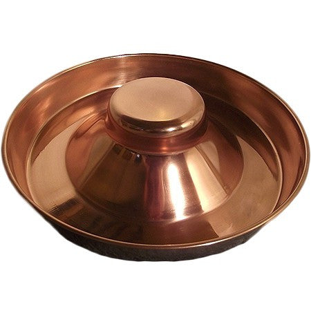 Copper Plated Puppy feeding bowl