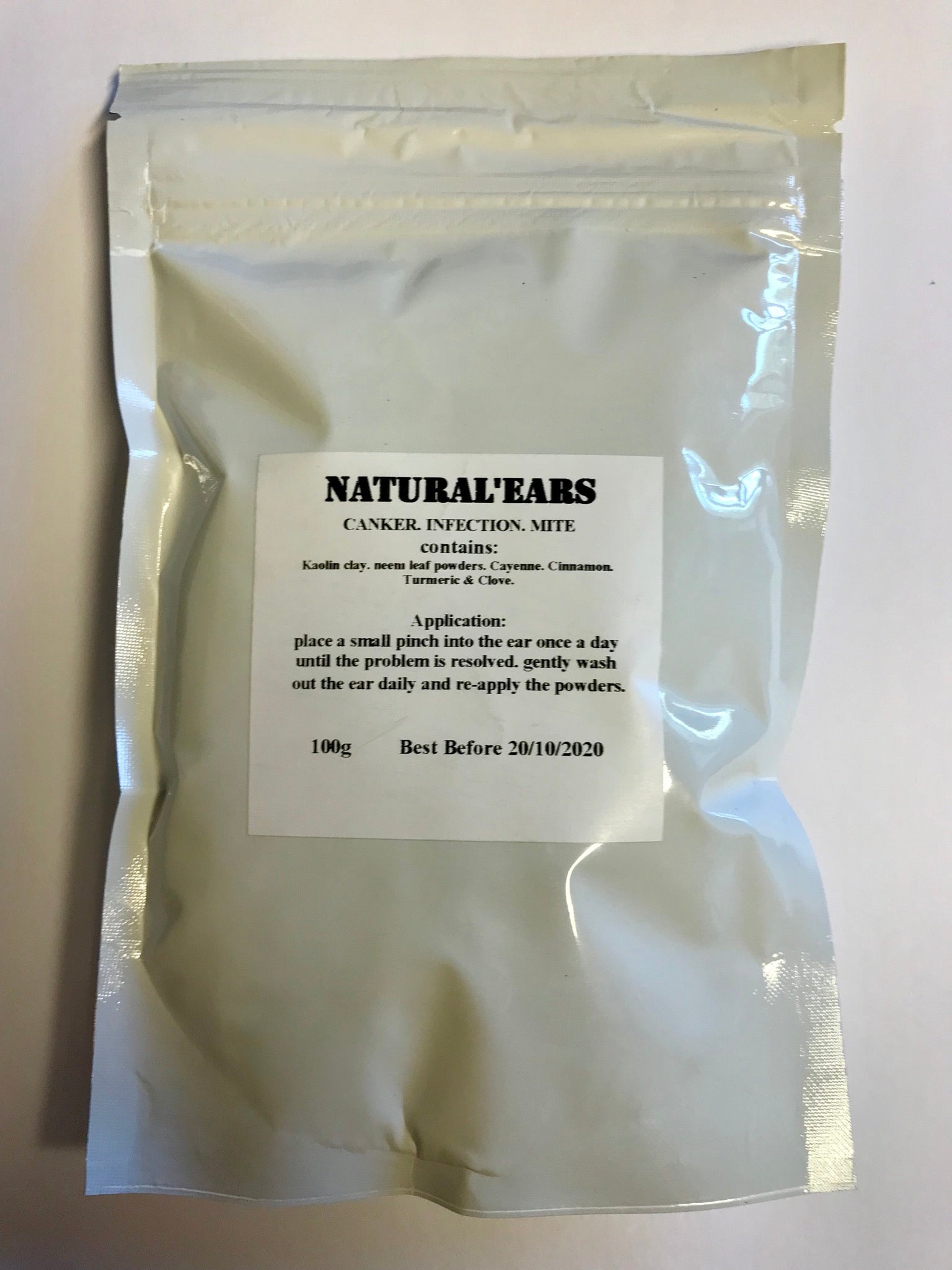 Natural Ears Canker and Mite Powder