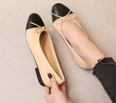 Classic & Elegant genuine leather ballet shoes - ida-trends