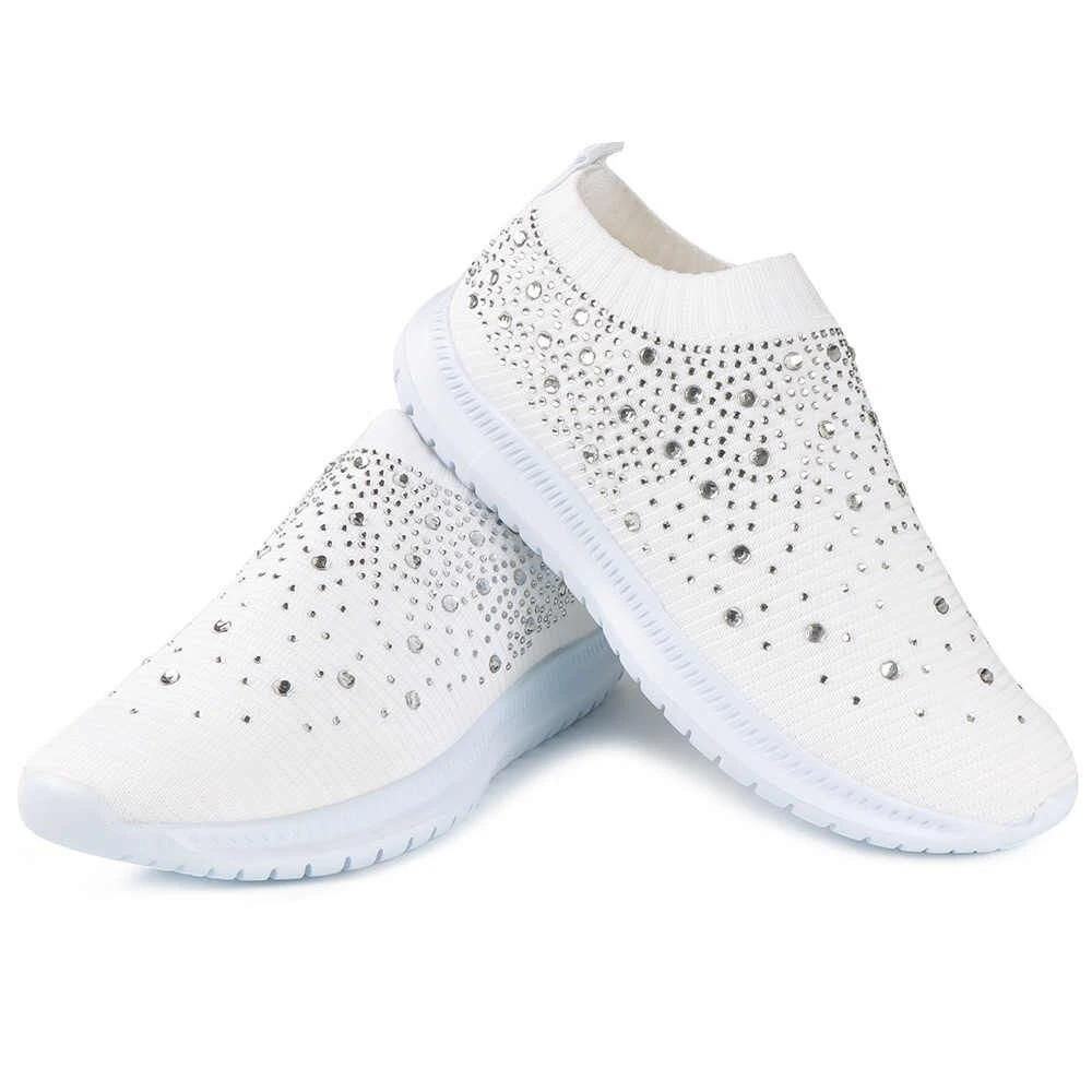 Gorgeous Crystal Slip-on Casual Sneakers