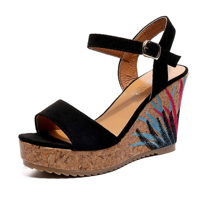 Hot Sale Summer Bohemian Women High Heels - ida-trends