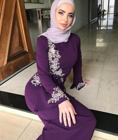Elegant Muslim Embroidery Full Dress