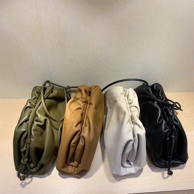 Big Leather Pouch Handbag