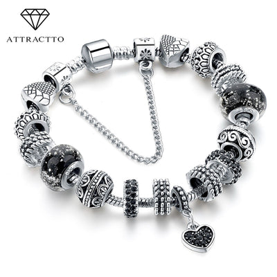 Black Charm love Bracelets & Bangles Bead s Bracelets For Women