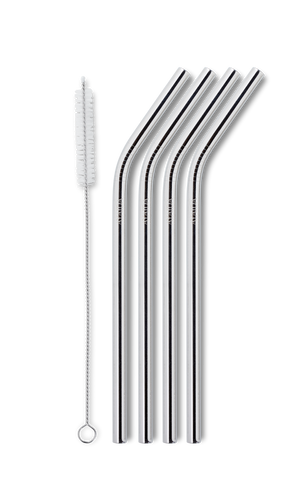Reusable Smoothie Straw – Silver