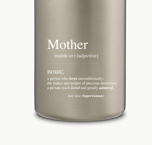 'Mother' definition on AYAIDA bottle