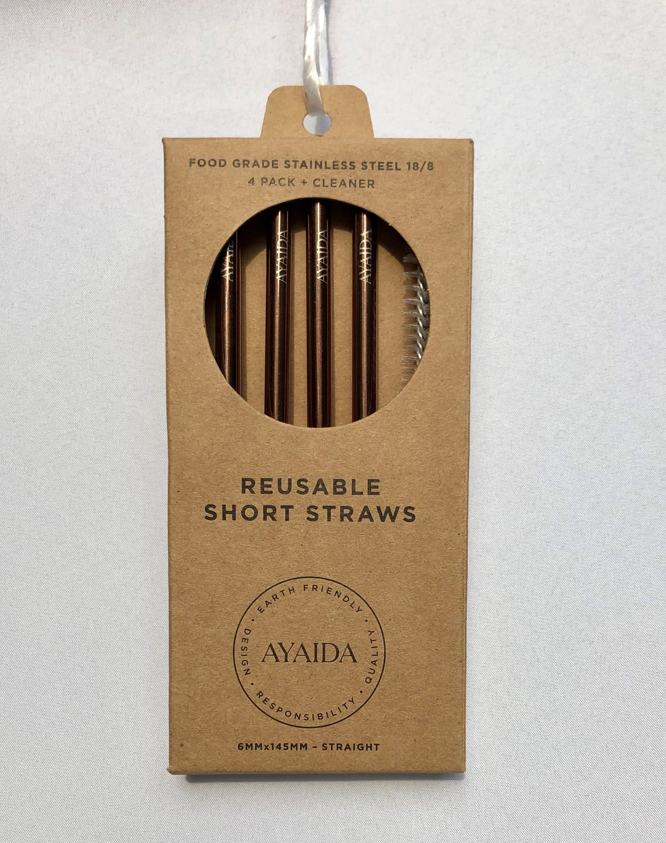 Reusable Short Straw – Rose Gold