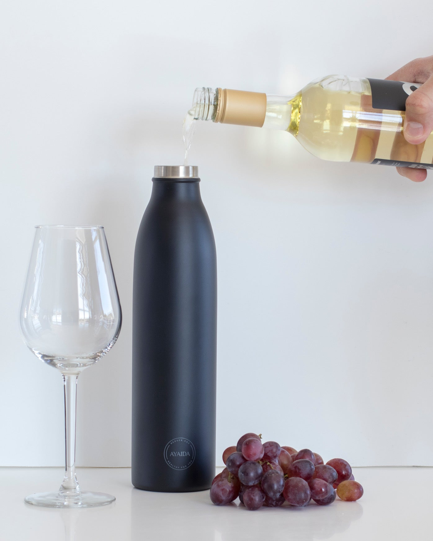 Drinking Bottle - Matte Black - 750ML