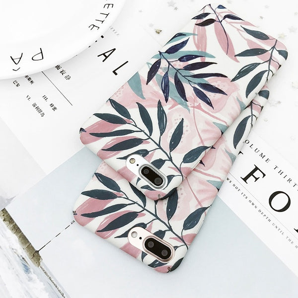 Кейс за телефон с листа за iPhone 6/6s/6 Plus/7/7 Plus