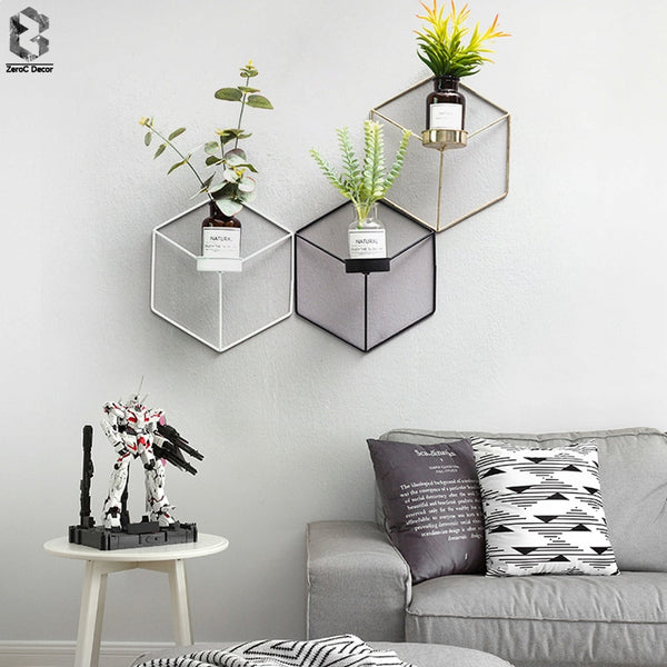 3D Geometric and Modern Metal Candlestick Wall Holders