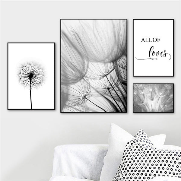Love Life Botanical and Modern Typography Canvas Wall Art