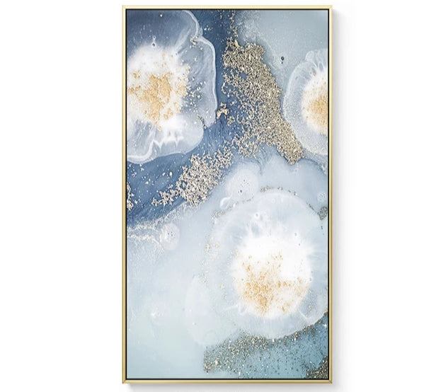 Mix Marble and Pink Abstract Canvas Wall Art