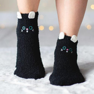 Warm 'n Fuzzy Twilight Whiskers Kitty Socks