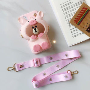 Doll pouch mobile phone case Lanyard Set For iPhone 6S 6Plus X XR XS XS MAX 7/8 7/8Plus 11 11Pro 11Pro Max For Phone Case