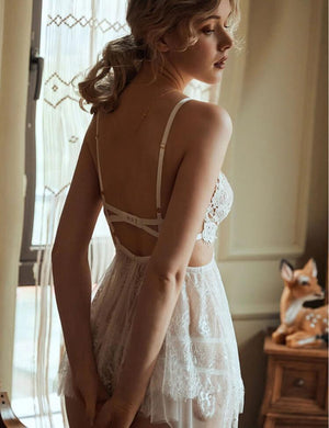 Backless Night Gowns & Thong Sets