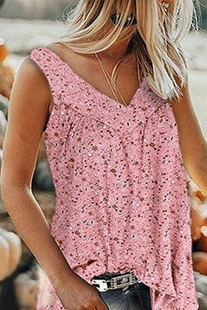 Stylish Floral Printed Tank Top