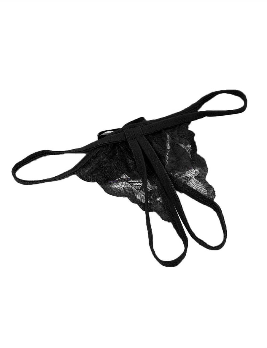Low Waist Crotchless Thongs