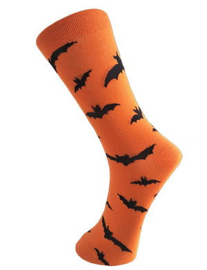 Halloween Party Pumpkin Bat Print Socks