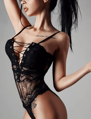 Evelin's Laced Up Bodysuit