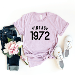 Vintage 1972 Shirt, 48th Birthday Gift For Women  Men, 48th Birthday Shirt