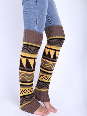 Bohemian thick wool boots cover leggings